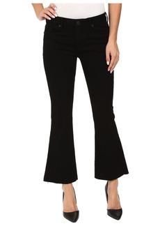 Hudson Jeans Mia Mid-Rise Five-Pocket Crop Flare Jeans w/ Raw Hem