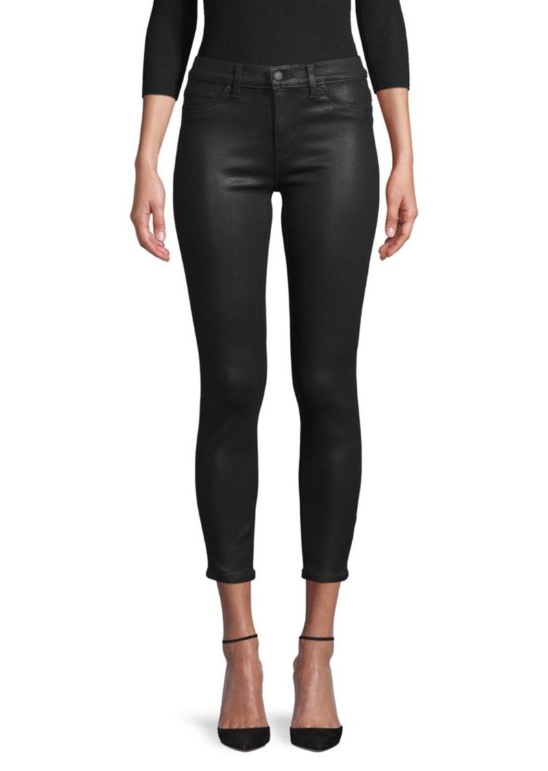 Hudson Jeans Mid-Rise Coated Ankle Skinny Jeans