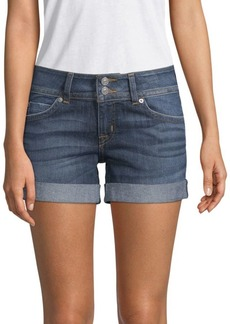 Mid-Thigh Denim Shorts