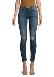 Hudson Jeans Natalie Distressed Mid-Rise Ankle Super Skinny Jeans