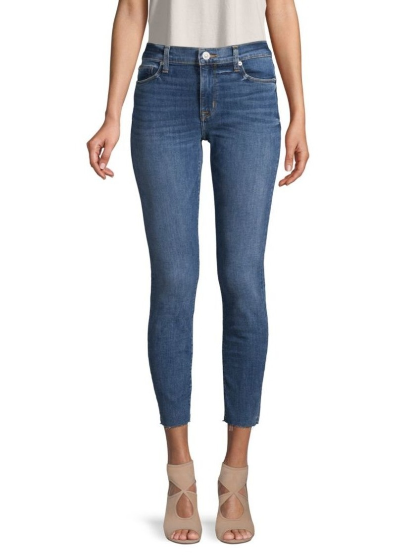Hudson Jeans Natalie Raw-Edge Mid-Rise Ankle Super Skinny Jeans