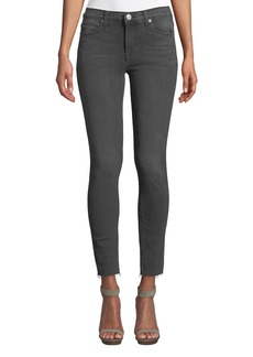 Hudson Jeans Natalie Whiskered Cropped Skinny Jeans  Gray