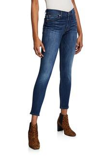 Hudson Jeans Natalie Whiskered Mid-Rise Ankle Skinny Jeans