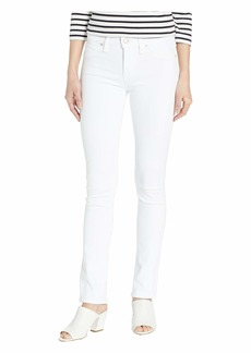 Hudson Jeans Nico Ankle with Back Open Lace Detail in White