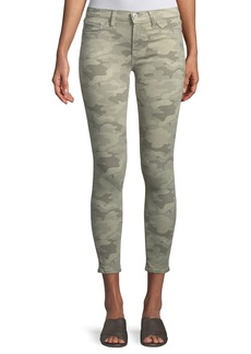 Hudson Jeans Nico Camo Mid-Rise Super Skinny Jeans