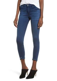 Hudson Jeans Nico Distressed Hem Ankle Super Skinny Jeans