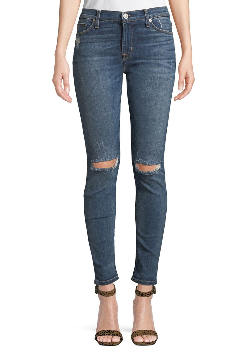 Hudson Jeans Nico Faded Distressed Super Skinny Jeans