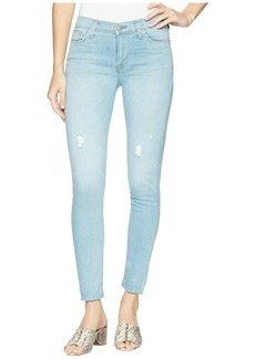 Hudson Jeans Nico Mid-Rise Ankle Raw Hem Super Skinny in Miss You