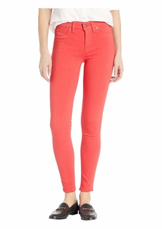 Hudson Jeans Nico Mid-Rise Ankle Skinny Jeans in Cherry