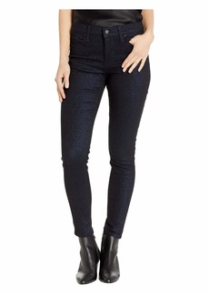 Hudson Jeans Nico Mid-Rise Ankle Skinny Jeans in Midnight Stellar