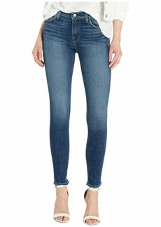 Hudson Jeans Nico Mid-Rise Ankle Skinny Jeans in No Tears Left