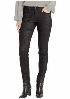 Hudson Jeans Nico Mid-Rise Ankle Skinny Jeans in Silver Stellar