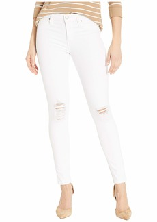 Hudson Jeans Nico Mid-Rise Ankle Skinny Jeans in White Rapids