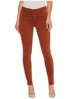 Hudson Jeans Nico Mid-Rise Ankle Super Skinny in Distressed Sepia