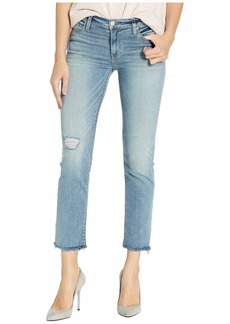 Hudson Jeans Nico Mid-Rise Cigarette Raw Hem in Outshine