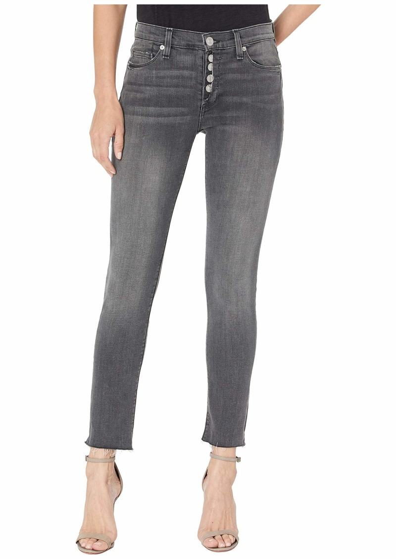 Hudson Jeans Nico Mid-Rise Crop Skinny Jeans w/ Exposed Button Fly in Downtown