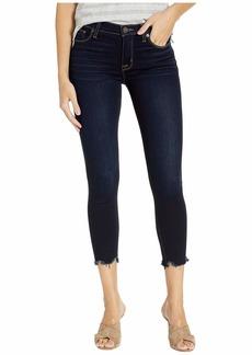 Hudson Jeans Nico Mid-Rise Crop Super Skinny Raw Hem in Too Soon