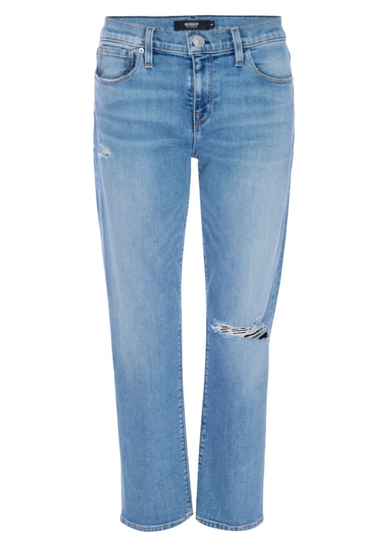 Hudson Jeans Nico Mid-Rise Cropped Straight Jeans