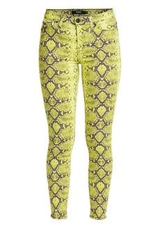 Hudson Jeans Nico Mid-Rise Neon Python Skinny Jeans