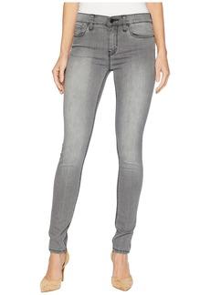 Hudson Jeans Nico Mid-Rise Skinny Jeans in Trooper Grey