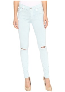 Hudson Jeans Nico Mid-Rise Skinny w/ Distress in Leaflet Destruct