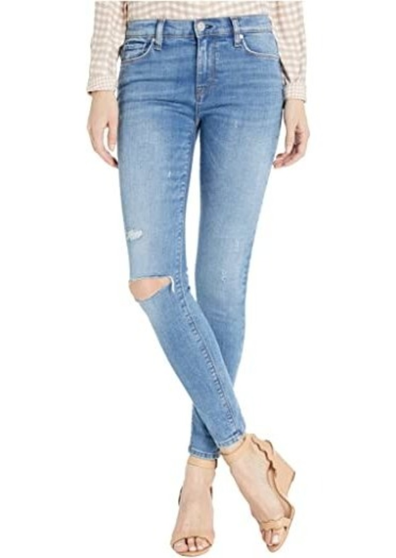 Hudson Jeans Nico Mid-Rise Super Skinny Ankle Jeans in Remixing