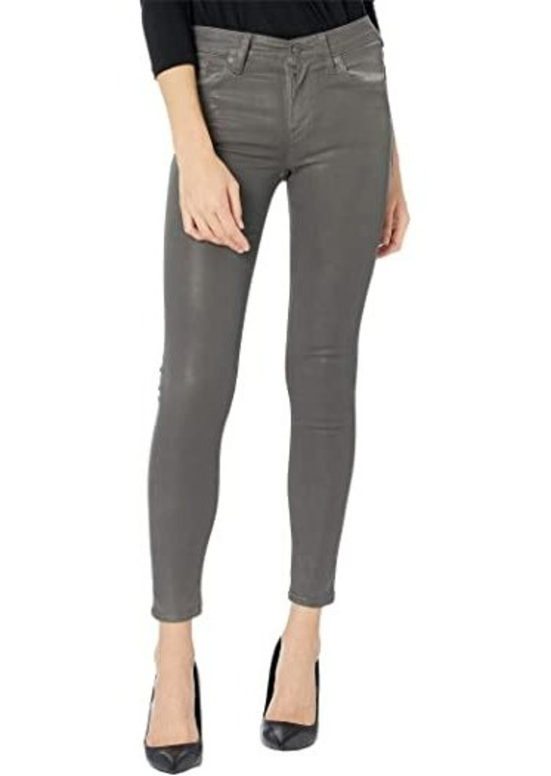 Hudson Jeans Nico Mid-Rise Super Skinny in High Shine Dark Slate