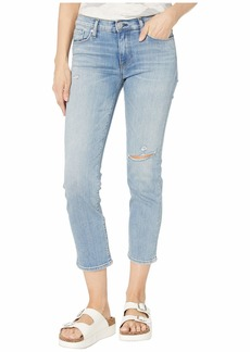 Hudson Jeans Nico Straight Mid-Rise Crop Straight with Deconstruction in Recover