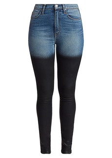 Hudson Jeans Ombre High-Rise Skinny Jeans