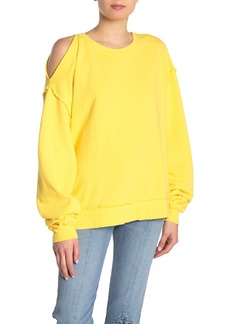 Hudson Jeans Open Shoulder Sweatshirt