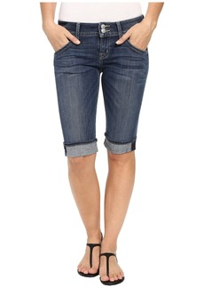 Hudson Jeans Palerme Knee Shorts in Alabaster Daze