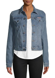 Hudson Jeans Point Collar Denim Jacket