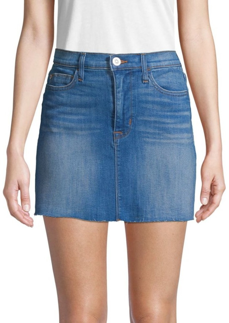 Hudson Jeans Raw Edge Mini Denim Skirt
