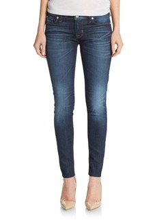 Hudson Jeans Raw-Hem Ankle Skinny Jeans