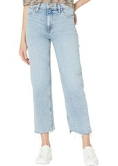 Hudson Jeans Remi High-Rise Crop Straight Jeans in Sure Thing