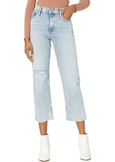 Hudson Jeans Remi High-Rise Straight Croppd in Two Hearts