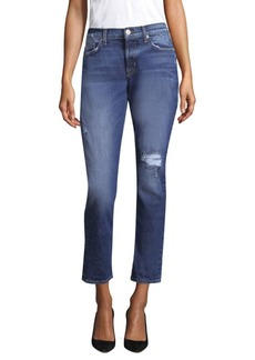 Riley Relaxed Straight-Leg Cropped Jeans