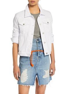 Hudson Jeans Ruby Contour Button-Front Stretch-Denim Jacket