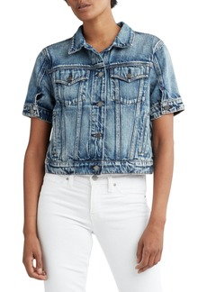 Hudson Jeans Ruby Contour Cropped Denim Trucker Jacket