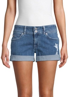 Hudson Jeans Ruby Cuffed Mid-Thigh Denim Shorts