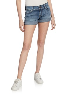 Hudson Jeans Ruby Rolled-Cuff Mid-Thigh Shorts