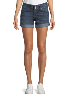 Hudson Jeans Ruby Rolled Denim Mid-Thigh Shorts
