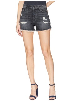 Hudson Jeans Sade Lace-Up Cut Off Shorts in Mercury