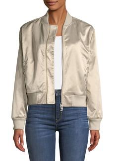 Hudson Jeans Sateen Zip-Front Bomber Jacket