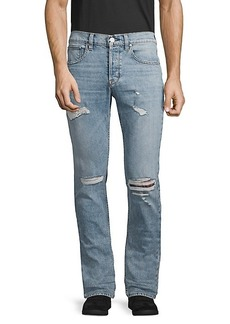 Hudson Jeans Slim Straight Distressed Jeans