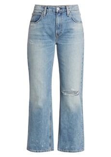 Hudson Jeans Sloane Distressed Wide Jeans