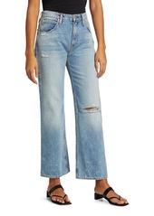 Hudson Jeans Sloane Distressed Wide Jeans