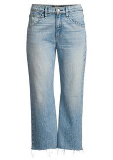 Hudson Jeans Sloane High-Rise Baggy Crop Stud Jeans