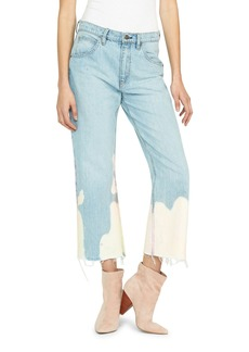 Hudson Jeans Sloane Mid-Rise Bleached Straight Crop Jeans
