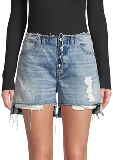 Hudson Jeans Button-Fly Denim Shorts